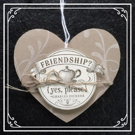 "Etikette ""FRIENDSHIP yes please"" No. 1"