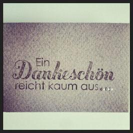 """Kleines Kuvert """"Dankeschön"""""""