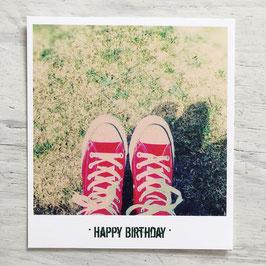 "Fotokarte ""HAPPY BIRTHDAY"" CHUCKS"