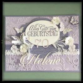 """Karte """"Alles Gute zum Geburtstag"""" mit Schmetterlingen Lila"""