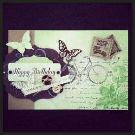 "Karte ""Happy Birthday Farfalla"""