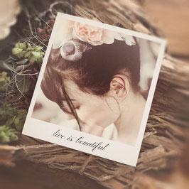 "Fotokarte ""live ist beautiful"""