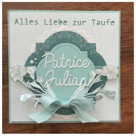 """Karte """"Zur Taufe"""""""