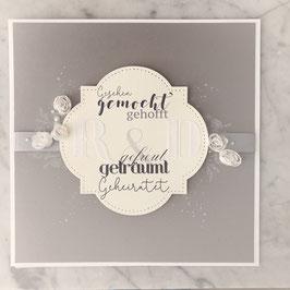 """Karte """"Hochzeit mit Taufe"""""""