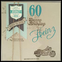 """Karte """"Born to ride"""""""