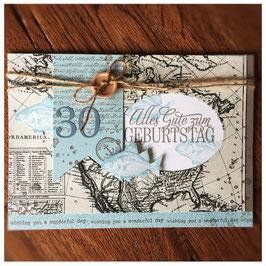 """Karte """"Alles Gute zum Geburtstag - world"""""""