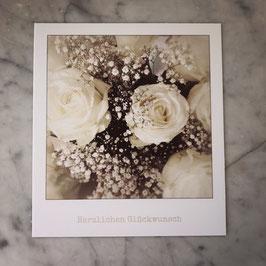 """Fotokarte """"Herzlichen Glückwunsch""""weiss"""