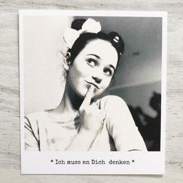 """Fotokarte """"Ich muss an Dich denken"""""""