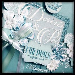 """Karte """"Wedding"""" No. 1 Petrol"""
