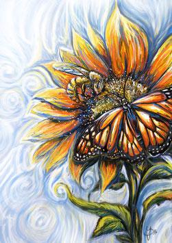 Biene und Schmetterling (Fleiß und Zuspruch)
