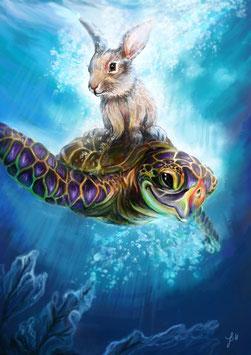 Hase und Schildkröte  (Freundschaft)