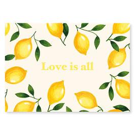 "Mélanie Voituriez - Carte "" Love is all """