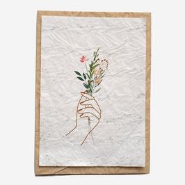 Growing paper - Carte à planter, Bouquet