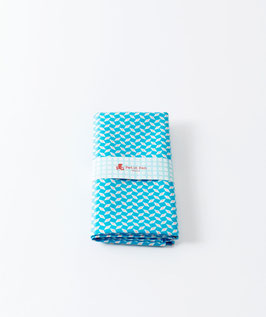 Coupon coton enduit Petit Pan Pépin bleu