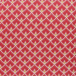 Coton enduit Ecailles, Rouge/Or