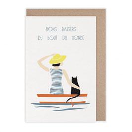 Monsieur Papier - Carte bon baisers barque