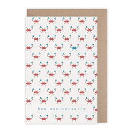 Monsieur Papier - Carte anniversaire crabes
