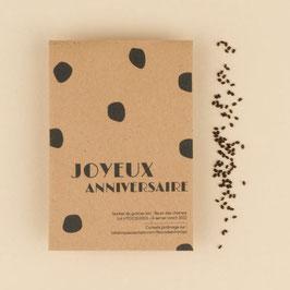 La fabrique à sachets- sachet de graines bio, Joyeux anniversaire- fleurs des champs