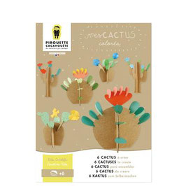 Kit créatif, mes cactus colorés -Pirouette Cacahouette