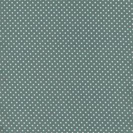 Coton enduit mini pois antique green