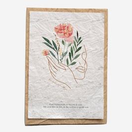 Growing paper - Carte à planter, Femme sauvage