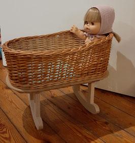 Berceau en rotin pour poupée