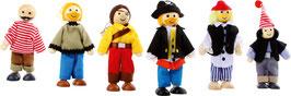Piratenfiguren-Set (6 Stück)