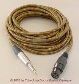 TAD Blues-Harp Micro-Kabel, XLR / Klinke, 6 m, Vintage Tweed