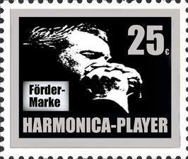HARMONICA-PLAYER Fördermarke silber 25 €