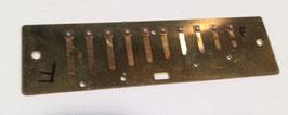 Nur Blas-Stimmplatte HOHNER MS Messing 0,9 mm