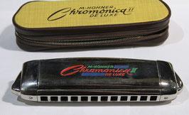 Hohner Chromonica II de luxe bunt mit Eui gebraucht