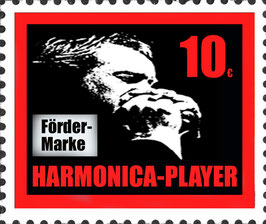 HARMONICA-PLAYER Fördermarke rot 10 €