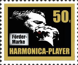 HARMONICA-PLAYER Fördermarke gold 50 €
