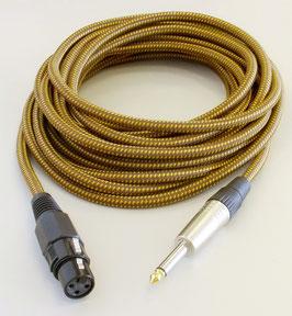 TAD Kabel für Hohner Harp Blaster HB52 Bullet Mic, Vintage Tweed