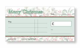 Jumbo Christmas Gift Cheque - Holly & Berries