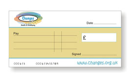 Changes Health & Wellbeing Jumbo Cheque