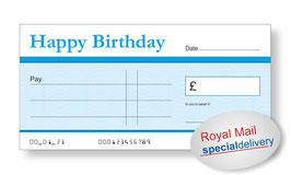 Jumbo Cheque (Happy Birthday Blue) - NEXT DAY