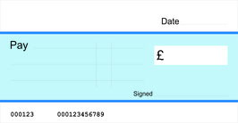Coloured Jumbo Cheque with Free Sharpie Permanent Marker Pen (3 options available)