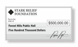Stark Relief Jumbo Cheque