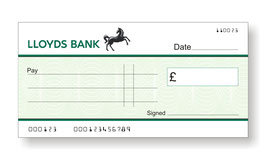 Lloyds Jumbo Cheque with Free Sharpie Permanent Marker Pen