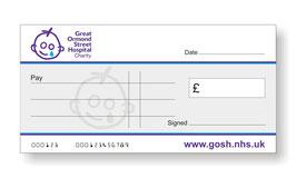 Great Ormond Street Hospital Jumbo Cheque