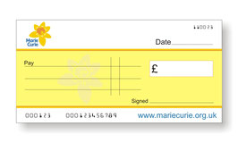 Marie Curie Jumbo Cheque