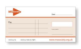 MS Society Jumbo Cheque