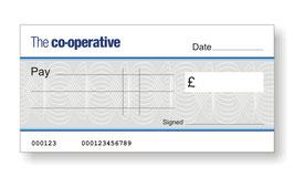 Co-operative Bank Jumbo Cheque