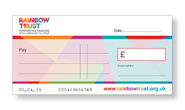 Rainbow Trust Jumbo Cheque