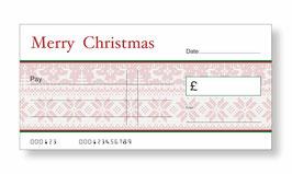 Jumbo Christmas Gift Cheque - Christmas Jumper