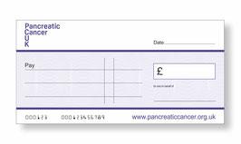 Pancreatic Cancer UK Jumbo Cheque
