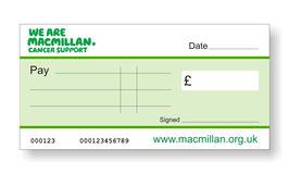 Macmillan Jumbo Cheque