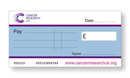Cancer Research UK Jumbo Charity Cheque