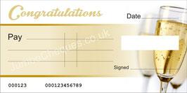 Champagne Cheque - Congratulations